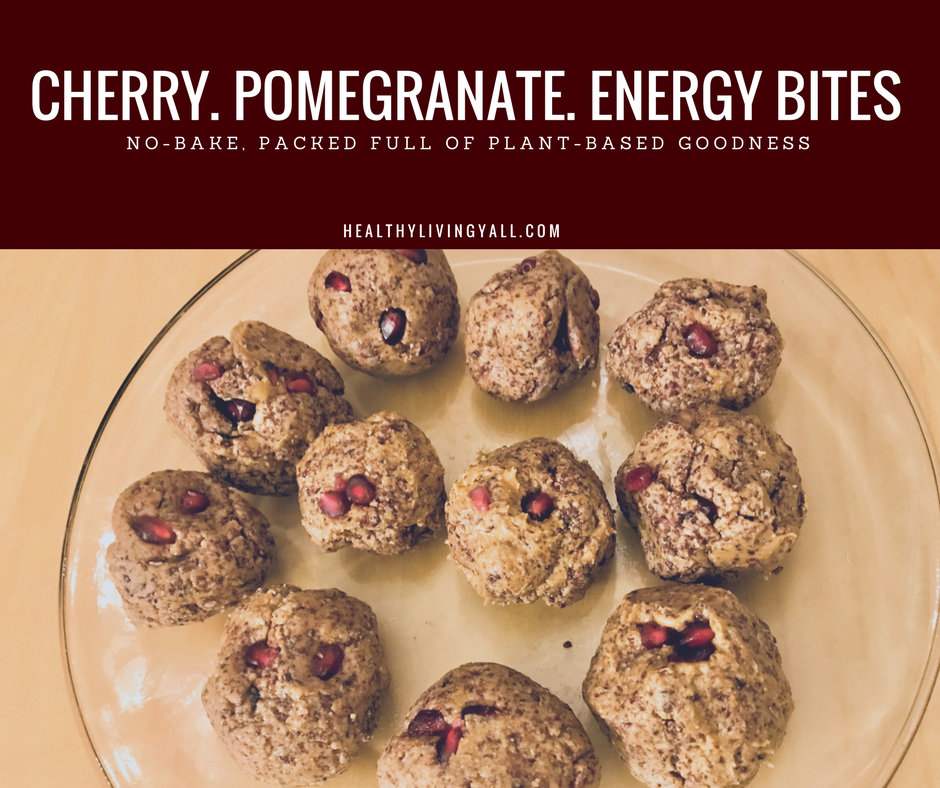 Cherry Pomegranate Energy Balls
