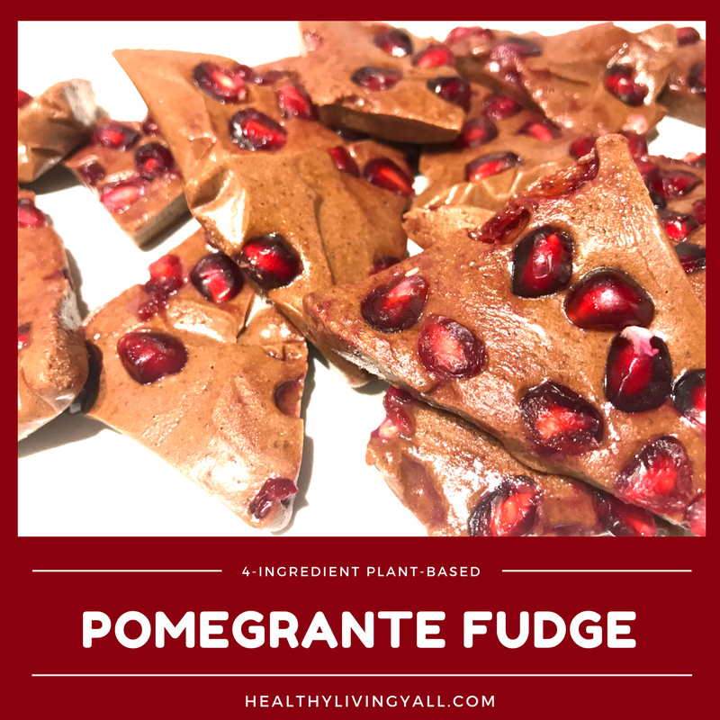 Healthy Pomegranate Fudge